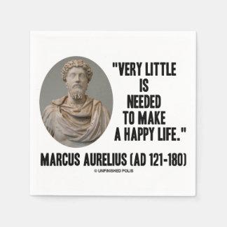 Marcus Aurelius Very Little Needed Make Happy Life Napkin