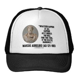 Marcus Aurelius Whatever Happens At All Happens Hats