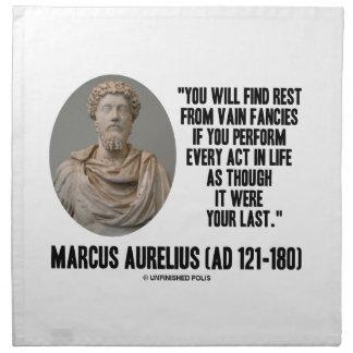 Marcus Aurelius You Will Find Rest Vain Fancies Cloth Napkin