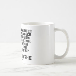 Marcus Aurelius You Will Find Rest Vain Fancies Coffee Mug