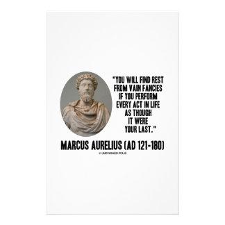Marcus Aurelius You Will Find Rest Vain Fancies Stationery