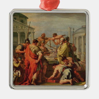 Marcus Furius Camillus  and Brennus Metal Ornament