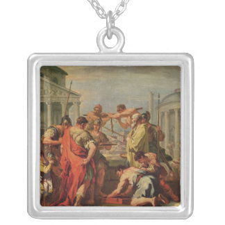 Marcus Furius Camillus  and Brennus Silver Plated Necklace