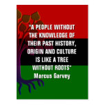 Marcus Garvey TREE WITHOUT ROOTS Postcard