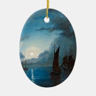 Marcus Larson hav-i-mansken-1848.water boat nature Ceramic Ornament