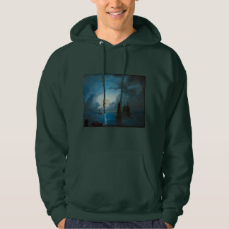 Marcus Larson hav-i-mansken-1848.water boat nature Hooded Sweatshirt