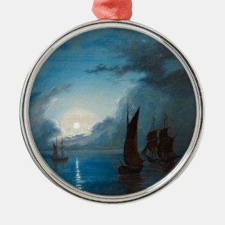 Marcus Larson hav-i-mansken-1848.water boat nature Metal Ornament