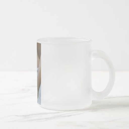 marcy white frosted glass coffee mug