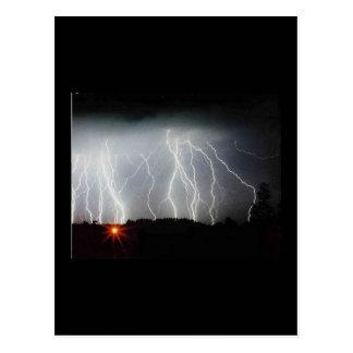 Marden lightning postcard