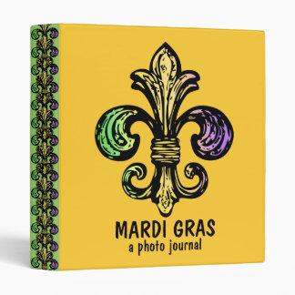 Mardi Fleur de Gras 3 Ring Binder