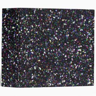 Mardi Gra Glitter Binder