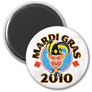 Mardi Gras2 2 Inch Round Magnet