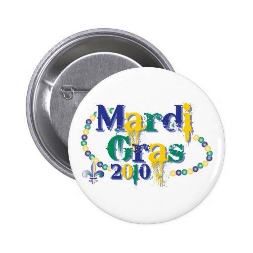 Mardi Gras 2010 beads bc Button