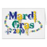 Mardi Gras 2010 beads bc Greeting Card