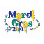 Mardi Gras 2010 beads bc Postcards