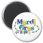 Mardi Gras 2010 beads bc Refrigerator Magnets
