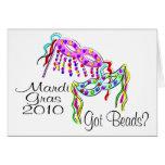 Mardi Gras 2010 Got Beads Card