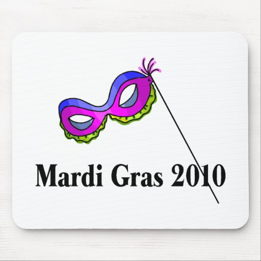 Mardi Gras 2010 Mask Mouse Pads