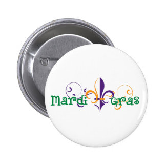Mardi Gras 2011 Design 2 Pinback Button