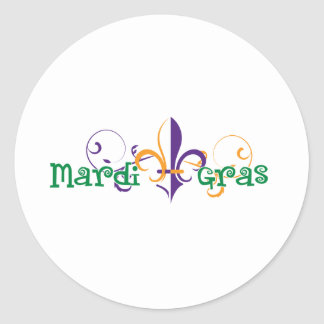 Mardi Gras 2011 Design 2 Classic Round Sticker