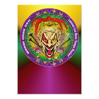 Mardi Gras 2011 Joker-V-3 Gold Back Personalized Invite