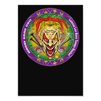 Mardi Gras 2011 Joker-V-3 Personalized Invitation