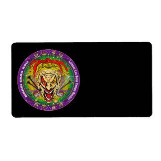 Mardi Gras 2011 Joker-V-3 Custom Shipping Labels