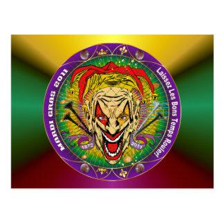 Mardi Gras 2011 Joker-V-3 Postcard