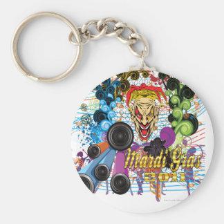Mardi-Gras 2011 The Joker II Basic Round Button Keychain