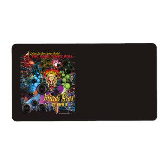 Mardi-Gras 2011 The Joker II Personalized Shipping Label