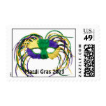 Mardi Gras 2013 Postage Stamp