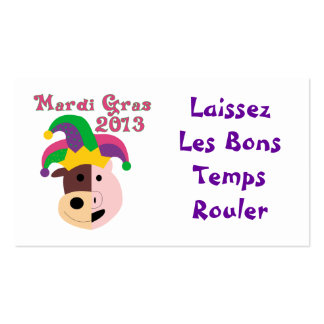 Mardi Gras 2013 Tees & Memorabilia Double-Sided Standard Business Cards (Pack Of 100)