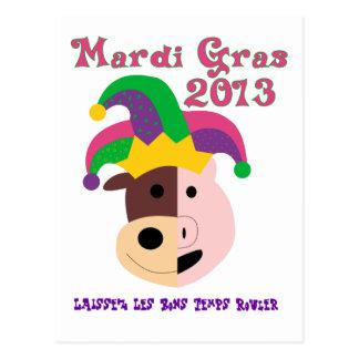 Mardi Gras 2013 Tees & Memorabilia Postcard