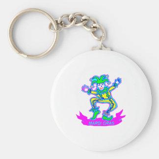 Mardi Gras 2 Basic Round Button Keychain