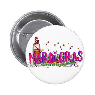 Mardi Gras 2 Inch Round Button
