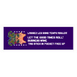 """Mardi Gras 3"""" x 1"""", Skinny cards View Hints Business Card Templates"""