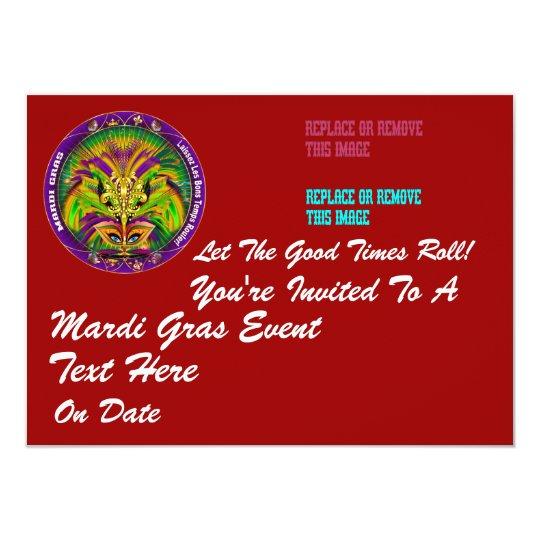 "Mardi Gras 4.5"" x 6.25"" Landscape Card"