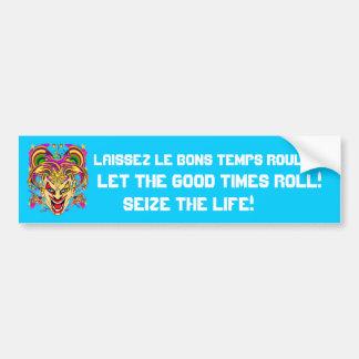 Mardi Gras 50 colors Please See Notes Car Bumper Sticker