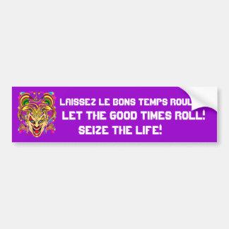 Mardi Gras 50 colors Please See Notes Bumper Sticker
