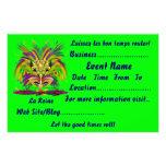 """Mardi Gras 5.5"""" x 8.5"""" Landscape Please View Notes Flyer Design"""