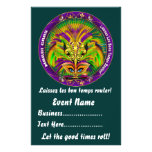 """Mardi Gras 5.5"""" x 8.5""""  Please View Notes Personalized Flyer"""