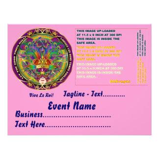 """Mardi Gras  8.5"""" x 11"""" Landscape Please View Notes Flyer"""