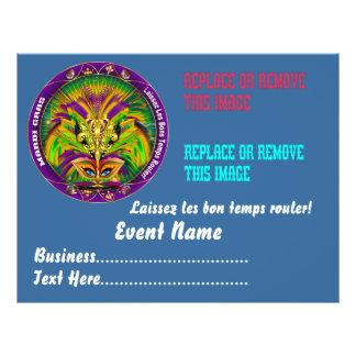 "Mardi Gras 8.5"" x 11"" Please View Notes Flyer"