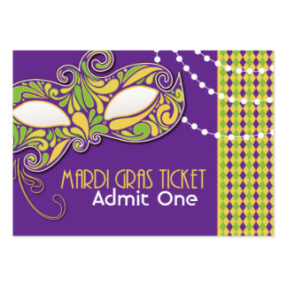 Mardi Gras Admission Tickets Large Business Cards (Pack Of 100)