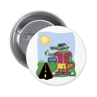 Mardi Gras Alligator 2 Inch Round Button