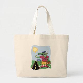 Mardi Gras Alligator Jumbo Tote Bag