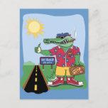 Mardi Gras Alligator Postcard