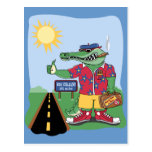 Mardi Gras Alligator Postcard