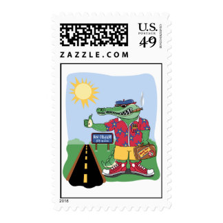 Mardi Gras Alligator Stamp