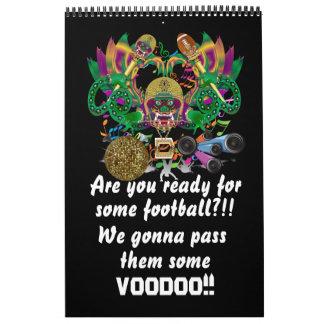 Mardi Gras and Football view notes please Calendar